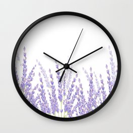 Lavender in the Field Wall Clock