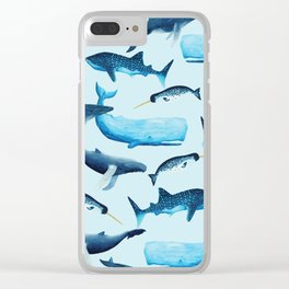 Creatures of the Seas Clear iPhone Case