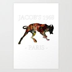 Mad Dog IV Contour Black Colors Jacob's 1968 urban fashion Paris Art Print