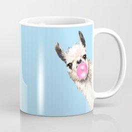 Bubble Gum Sneaky Llama in Blue Kaffeebecher