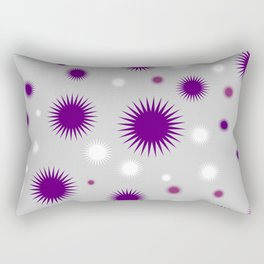 Star Burst Galaxy - Purple Grey White Rectangular Pillow
