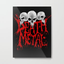 Death Metal Metal Print