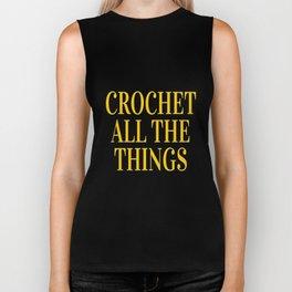 Crochet All The Things in Yellow Biker Tank