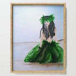 hula girl Serving Tray