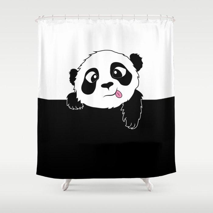 Panda Shower Curtain By Doratakacs