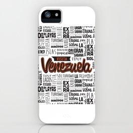 Venezuela Lettering Design iPhone Case