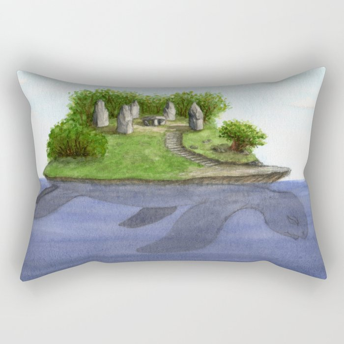 Turtle island Rectangular Pillow