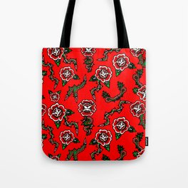 BED OF SNAKE ROSES Tote Bag