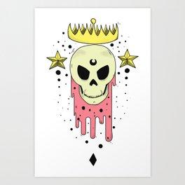 Crowned Skull Art Print