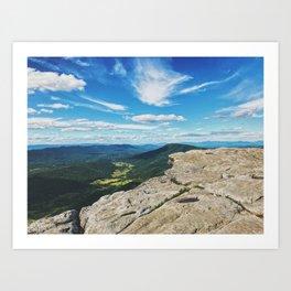 McAfee Knob Lookout •Appalachian Trail Art Print