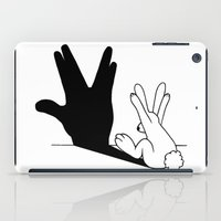 novelty iPad Cases featuring Rabbit Trek Hand Shadow by Mobii