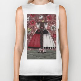Snow-White and Rose-Red (1) Biker Tank