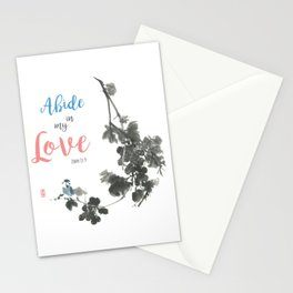 Abide in my Love Stationery Cards