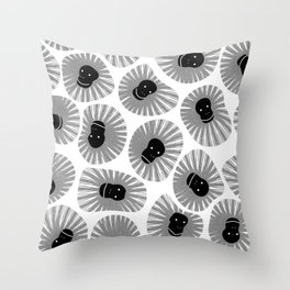 A TROOP OF BABOONS Throw Pillow