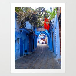 Shopping the Streets of Morocco Art Print