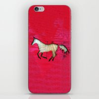 horse iPhone & iPod Skins featuring Horse by Brontosaurus