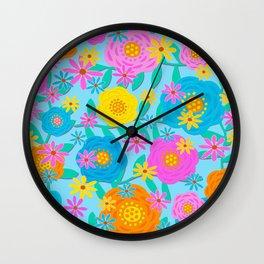 Pretty Floral Design Wall Clock