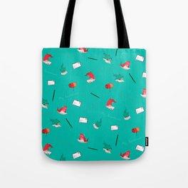 Teal Whale Shark and Shark Tote Bag