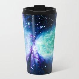 Space Galaxy : A Star is BORN Violet Mint Green Blue Travel Mug
