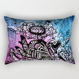 Henna Lotus Hand Rectangular Pillow