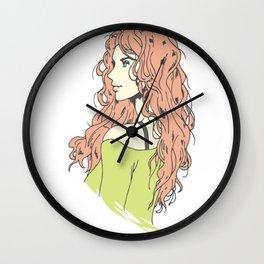 beautifull anime girl Wall Clock