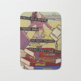 Travel The World Through Books Bath Mat