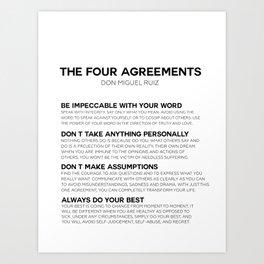 the four agreements Art Print