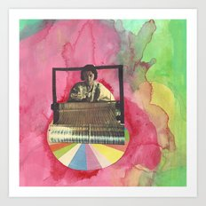 weaving Art Print