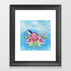 Tropical Jungle Flowers - Aloha Beach - on #Society6 Framed Art Print