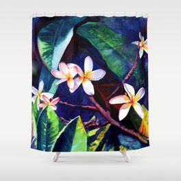 Blooming Plumeria Shower Curtain