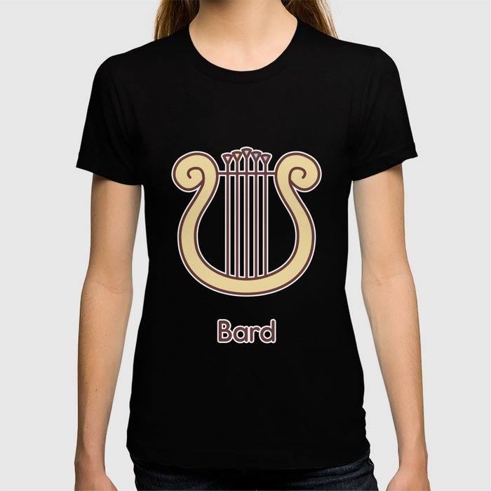 Cute Dungeons and Dragons Bard class T-shirt