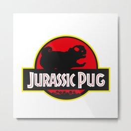 jurassic pug Metal Print