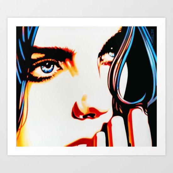 Electric Blue Art Print