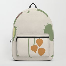 Rose hip and Chestnut Boho Fall seamless Backpack