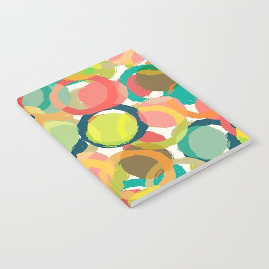COLORFUL CIRCLES PATTERN  Notebook