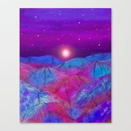 Lines in the mountains XXII Canvas Print