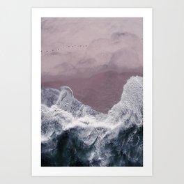 Sands of Lavender Art Print