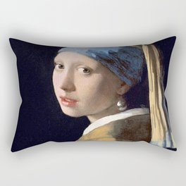 GIRL WITH A PEARL EARRING - JOHANNES VERMEER Rectangular Pillow