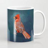 cardinal Mugs featuring Cardinal by Freeminds