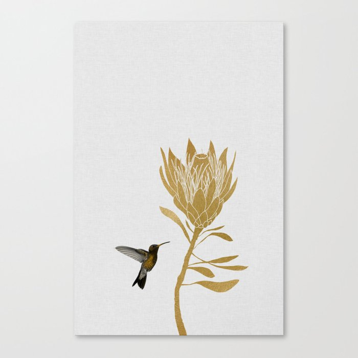 Hummingbird & Flower I Leinwanddruck