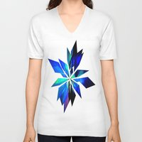 crystals V-neck T-shirts featuring Crystals by Renaissance Youth