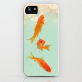 Goldfish in the sky iPhone Case
