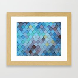 Blue Tiles (Color) Framed Art Print