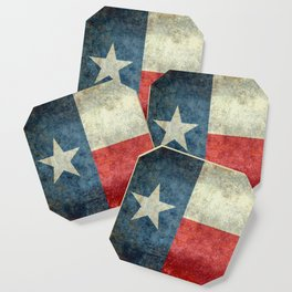 Texas State Flag, Retro Style Coaster