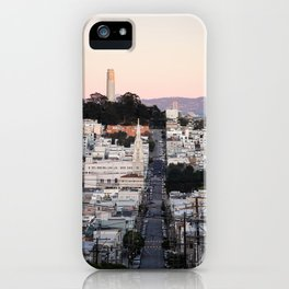 Coit Tower at Twilight iPhone Case