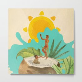 Coconut Milk Party Metal Print