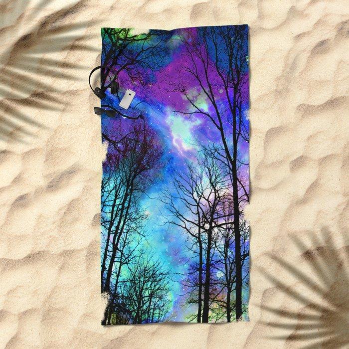 fantasy sky Beach Towel