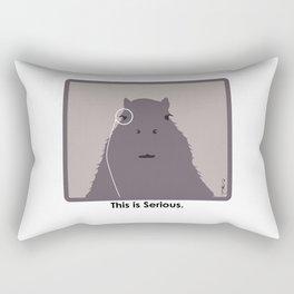 Professor Capybara III Rectangular Pillow