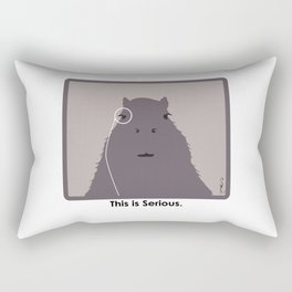 Professor Capybara III Rectangular Pillow
