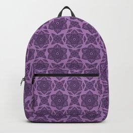 Floral Lotus Mandala Purple Backpack